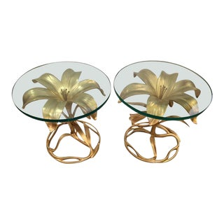 Arthur Court Lily Accent Tables - A Pair