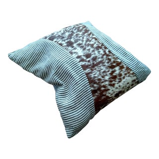 Logan Collection Striped Cowhide Pillow