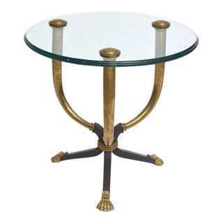 Brass, Bronze and Patinated Bronze Gueridon Table Attributed to Juan Montoya