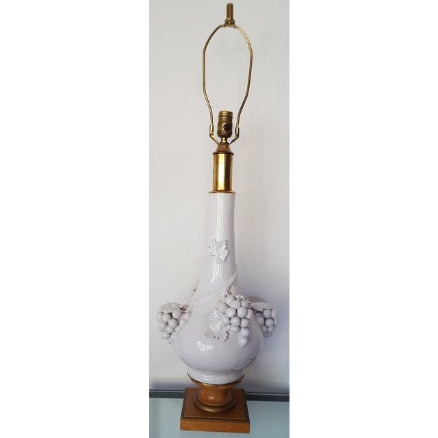 Image of Hollywood Regency Porcelain Grape Cluster Lamp