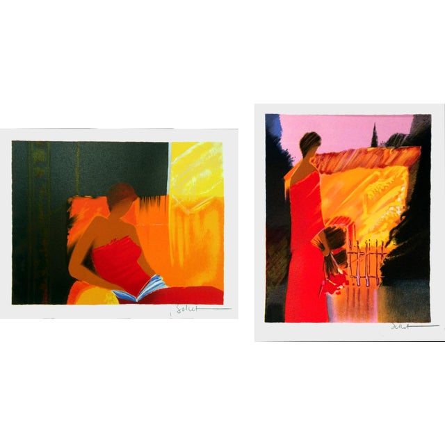 Limited Edition Emile Bellet Serigraphs - a Pair - Image 1 of 7