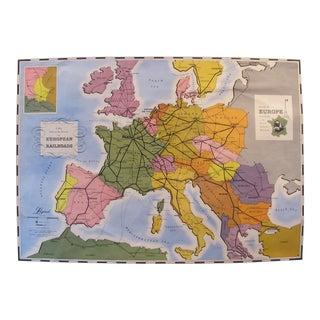 Original 1949 French Railway Map