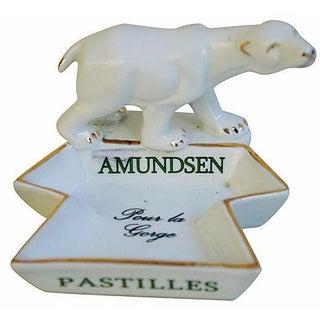 French Porcelain Amundsen Match Striker Ashtray