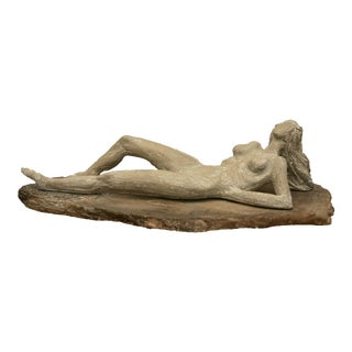 Large Reclining Nude Cast Stone Statue