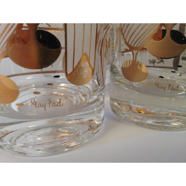 Signed Gay Fad Cocktail Glasses - Set of 6 - Image 6 of 6