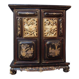 A Chinese Lacquered and Gilt Shrine