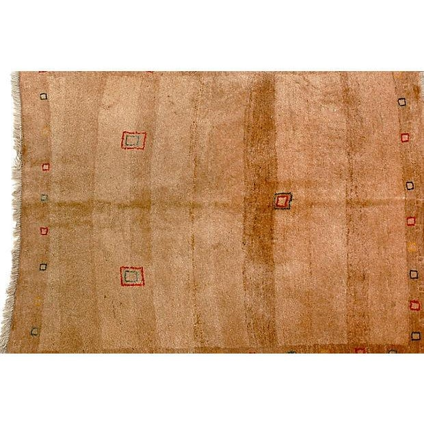 "Persian Tribal Gabbeh Rug - 4' X 4'7"" - Image 2 of 2"