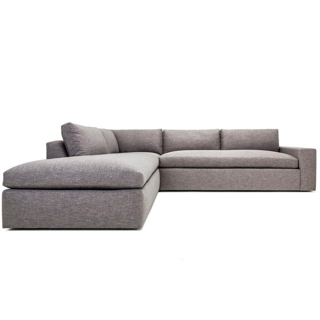 Sectional Sofa Sale Los Angeles: Clad Home Grey Contemporary Sectional Sofa