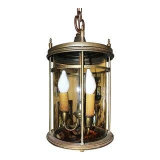 C. 1930 Vintage Brass Hanging Lantern