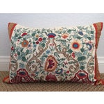 Image of Luxury Silk Embroidered Decorative Pillow