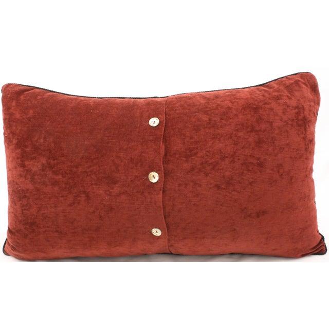 Paisley & Velvet Bolster Pillow - Image 2 of 2