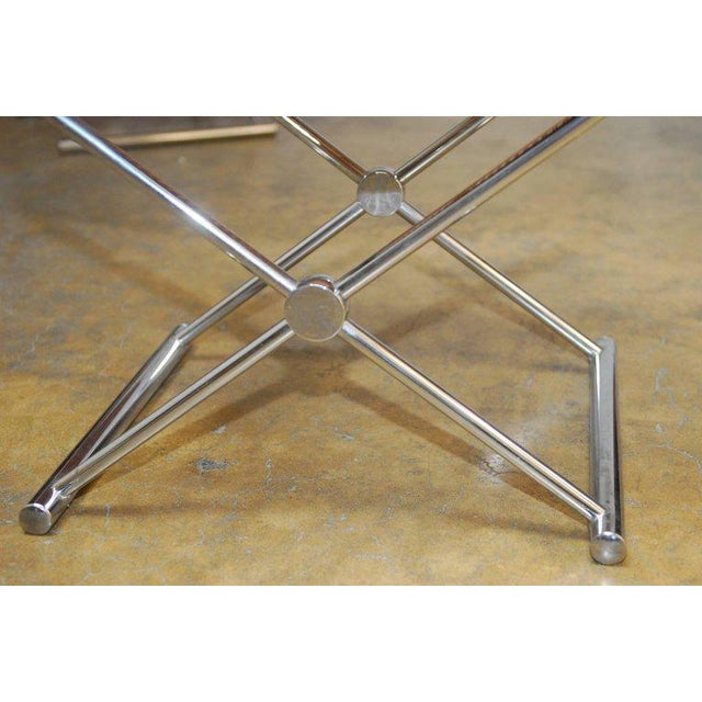 Mid-Century Chrome and Caned Director Chairs - A Pair - Image 6 of 8