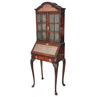 English Queen Anne Needlepoint Secretaire
