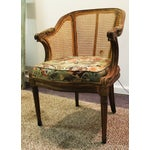Image of Antique French Cane Side Ladies Arm Chair