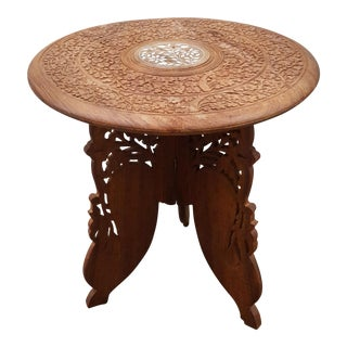 Carved Moroccan Side Table