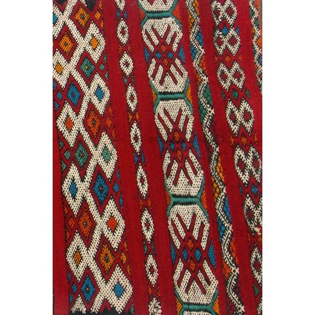 "Maroc Tribal Rug: Red Moroccan Berber Tribal Kilim Rug 3' 2"" X 5' 3"""