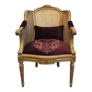Handmade French Style Gilded Chair