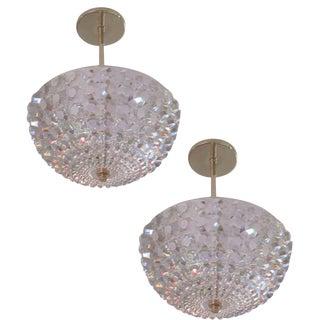 Two Austrian Cut Crystal Pendants or Chandeliers