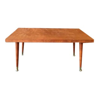 Mid-Century Refinished Blonde Wood Coffee Table