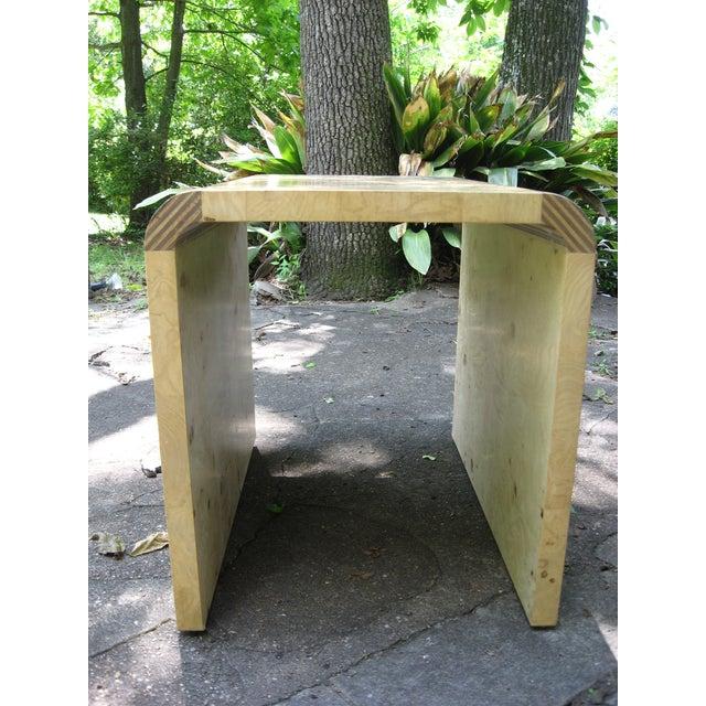 Henredon Olive Burl and Ebony Side Table/Stool - Image 5 of 10