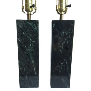 Robjohn-Gibbings-Style Marble Lamps - A Pair