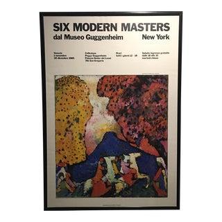 Six Modern Masters Guggenheim Exhibit Poster 1985