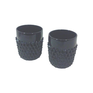 Black Studded Rock Glasses - Pair