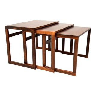 Vildbjerg Danish Rosewood Nesting Tables - S/3