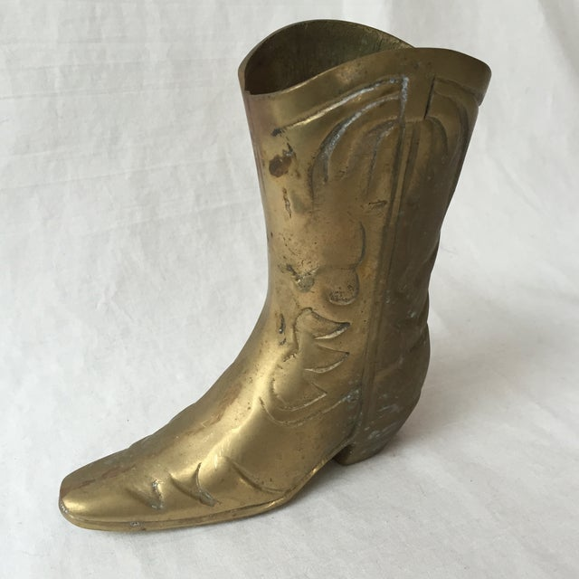 Image of Vintage Brass Cowboy Boot