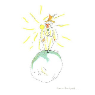 """Antoine De Saint Exupery """"The Conceited Man"""" From the Little Prince Print"""