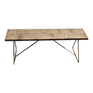 Industrial, Handcrafted Wooden Bench
