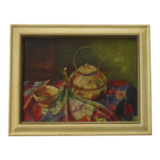 "Lucy M. Anderson ""Korean Brass"" Still Life Painting"