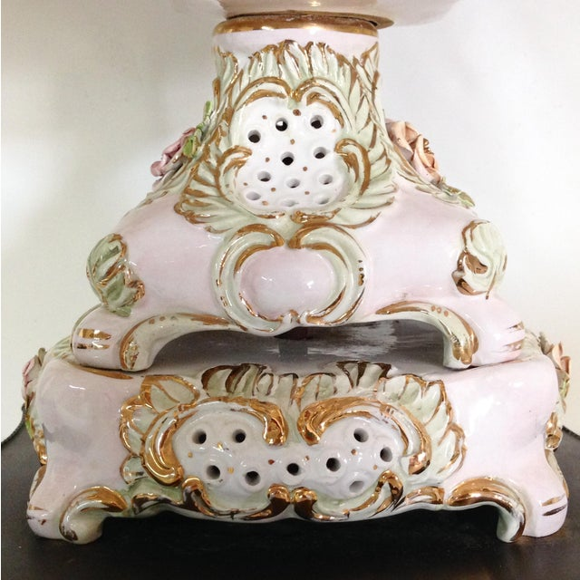 Italian Porcelain Capidomente Table Lamps - A Pair - Image 8 of 8