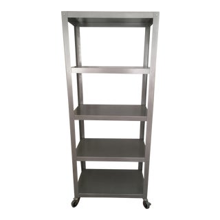 Stainless Steel Rolling Shelves Bookcase
