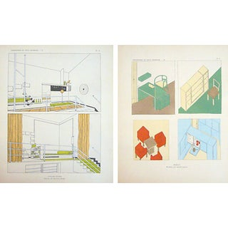 Vintage Paris Art Deco Design Sheets - A Pair