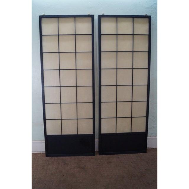 Vintage Japanese Shoji Sliding Doors - A Pair - Image 2 of 10
