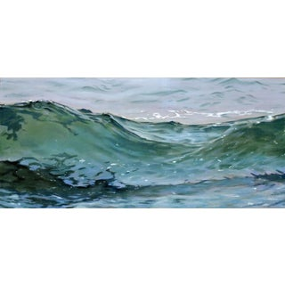 "Original ""Wave 74"" Pastel Painting by Christopher Reid"