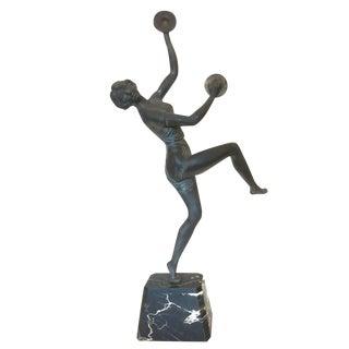 Art Deco Alliot Style Bronze Figural Statue