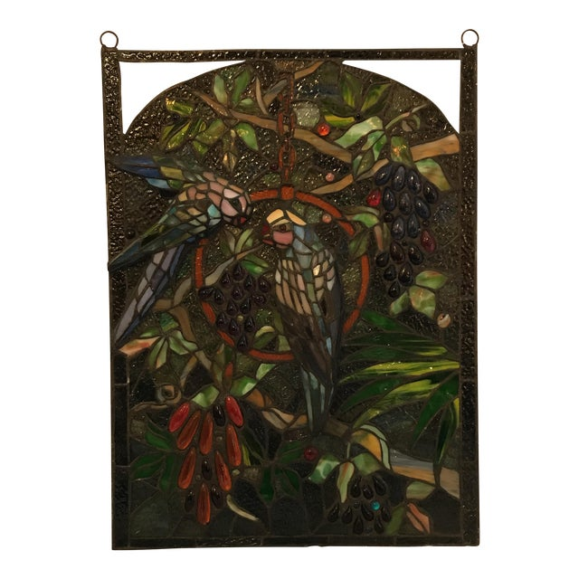 Tiffany Style Stained Glass Plaque - Image 1 of 7