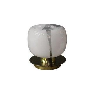 Murano Glass and Brass Retro Mushroom Style Lamp