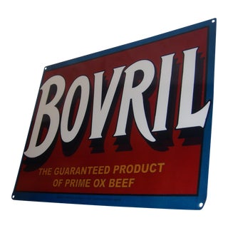 Tin Sign Reproduction of Bovril Advertisement