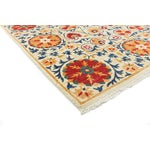 "Image of Suzani Orange & Red Hand-Knotted Rug - 8'2"" X 10'5"""