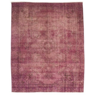 """Pink Vintage Persian Overdyed Rug - 7'10"""" X 10'4"""""""