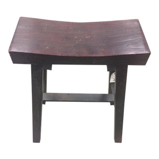 Rustic Pine Low Stool