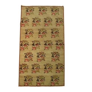 "Turkish Floral Camel Rug - 3'10"" x 7'2"""