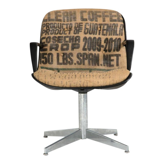 Steelcase Side Chairs in Burlap, Pair - Image 1 of 8