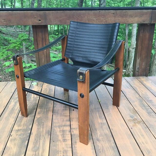 Sirocco Safari Black Vinyl & Leather Arms Chair - Image 2 of 10