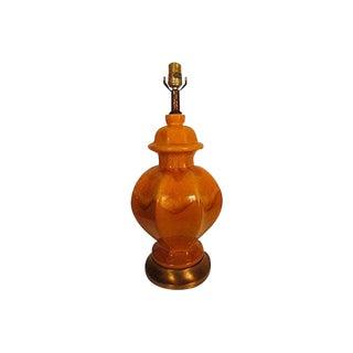 Drip Glazed Haeger Mid-Century Lamp