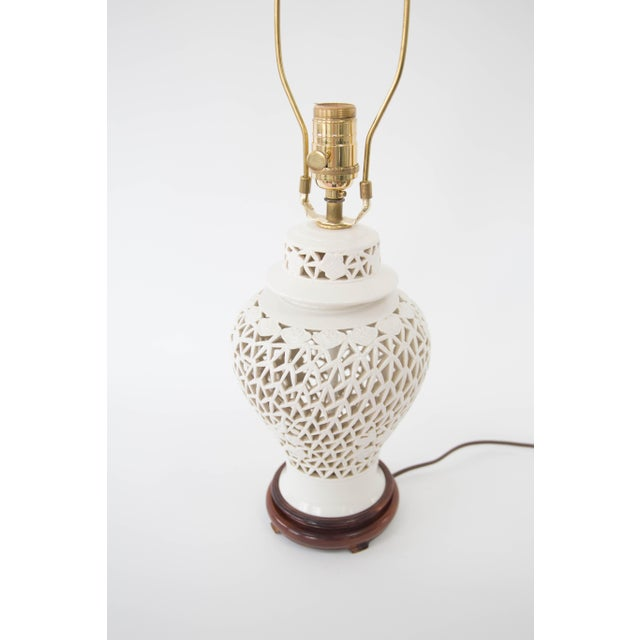 Blanc de chine urn form table lamp chairish for Table de chine