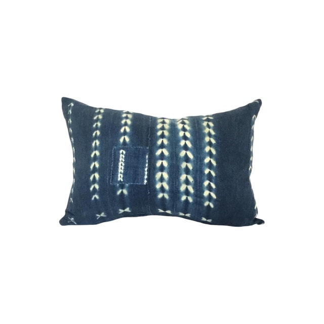 Vintage African Indigo Pillow - Image 1 of 4